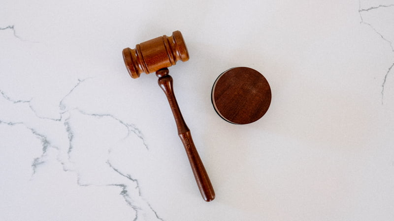 judge mallet on marble table