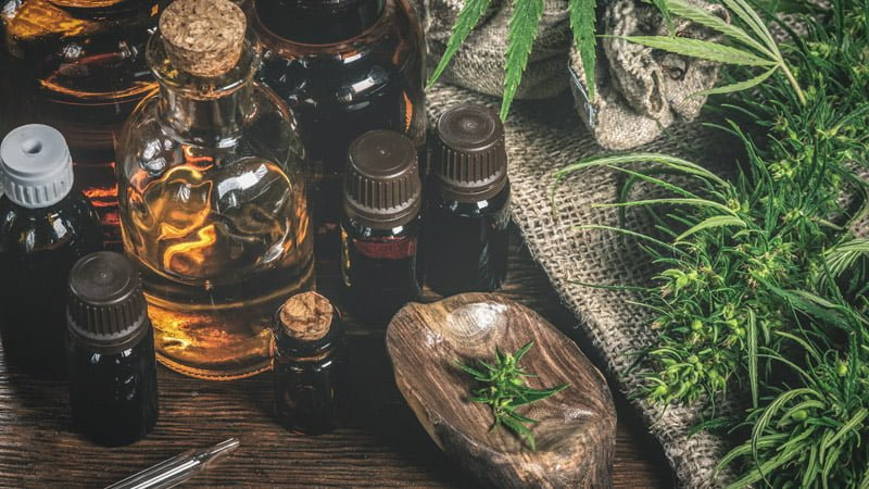 Hemp Products With Leaves