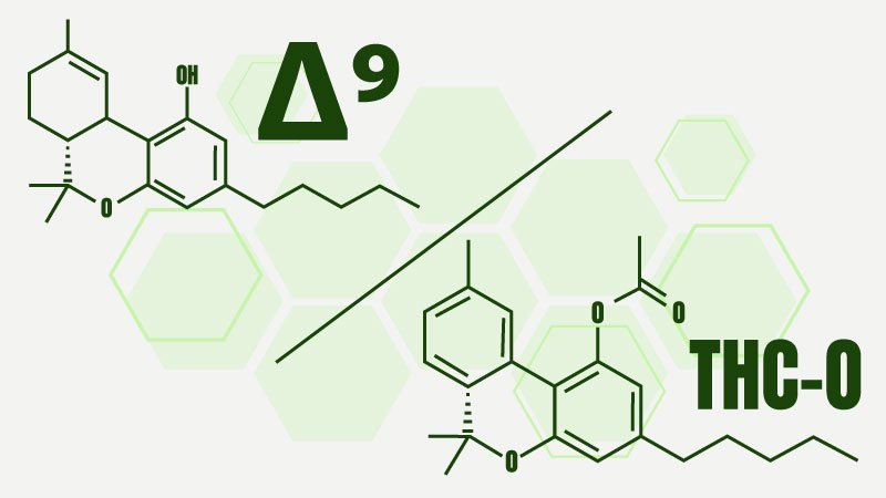 Illustration of Delta 9 vs THC-O chemical structures